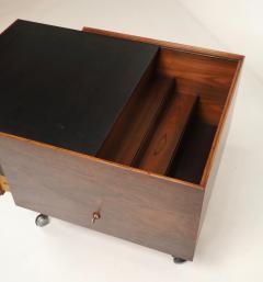 Arne Vodder Scandinavian Rosewood Bar Cart Cabinet Designed by Arne Vodder - 2026272