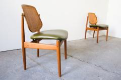 Arne Vodder Set of Four Arne Vodder France Sons F 205 Dining Chairs - 128202