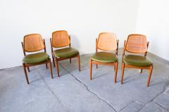 Arne Vodder Set of Four Arne Vodder France Sons F 205 Dining Chairs - 128204