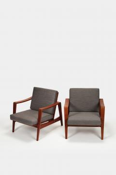 Arne Wahl Iversen Pair of Arne Wahl Iversen armchairs from the 60s - 1908129