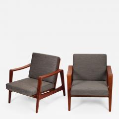 Arne Wahl Iversen Pair of Arne Wahl Iversen armchairs from the 60s - 1909653
