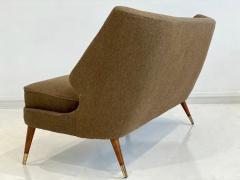 Arne Wahl Iversen Wool Sofa with Curved Back by Arne Wahl Iversen - 1458740