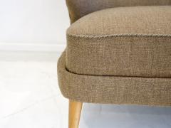 Arne Wahl Iversen Wool Sofa with Curved Back by Arne Wahl Iversen - 1458751