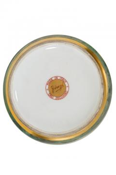 Arrigo Finzi Arrigo Finzi Greco Roman Motif Gold Porcelain Vase for Oro Zecchino - 1197390