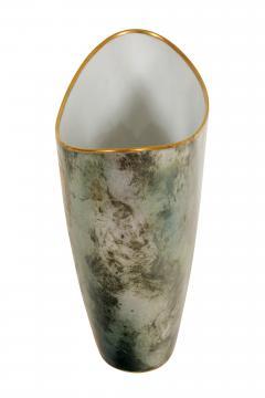 Arrigo Finzi Greco Roman Motif Gold Porcelain Vase for Oro Zecchino - 1206639