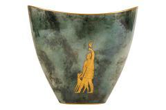 Arrigo Finzi Greco Roman Motif Gold Porcelain Vase for Oro Zecchino - 1206642