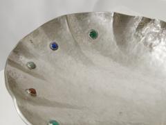 Arrigo Finzi Shell shaped plate in silver and gemstone Arrigo Finzi circa 1950 - 955713