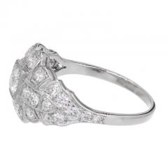 Art Deco 31 Carat Diamond Platinum Dome Engagement Ring - 389368