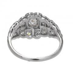 Art Deco 31 Carat Diamond Platinum Dome Engagement Ring - 389375