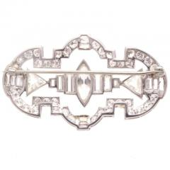 Art Deco 7 25 Carat Diamond Platinum Brooch - 417130