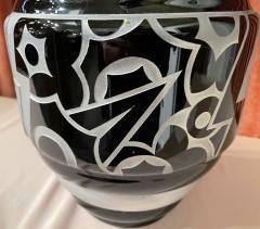 Art Deco Acid Etched Modernist Glass Vase by Scalimont Production - 1807098