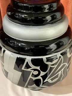 Art Deco Acid Etched Modernist Glass Vase by Scalimont Production - 1807099