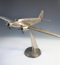 Art Deco Airplane Display Presentation Desk Model Fiat Italy - 1168707