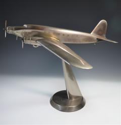 Art Deco Airplane Display Presentation Desk Model Fiat Italy - 1168708