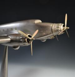 Art Deco Airplane Display Presentation Desk Model Fiat Italy - 1168709