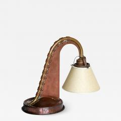 Art Deco Amsterdam School Copper Piano Lamp Netherlands 1925 - 1233143