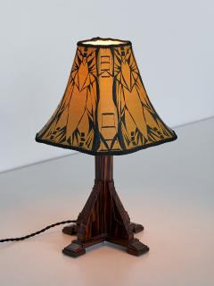 Art Deco Amsterdam School Table Lamp in Macassar Ebony Netherlands 1930s - 1095660