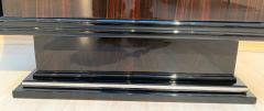Art Deco Bar Vitrine Macassar Piano Lacquer and Metal France circa 1930 - 1498066