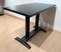 Art Deco Bistro or Side Table Black Lacquer Aluminum Trims France 1930s - 1808439