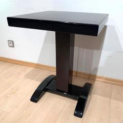 Art Deco Bistro or Side Table Mahagoni and Black Lacquer France 1930s - 1889146