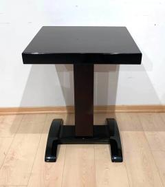 Art Deco Bistro or Side Table Mahagoni and Black Lacquer France 1930s - 1903606