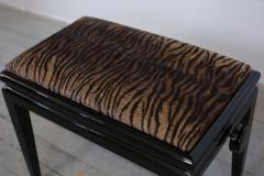 Art Deco Black Lacquer Adjustable Height Piano Bench Circa 1935   264423