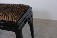 Art Deco Black Lacquer Adjustable Height Piano Bench Circa 1935   264424