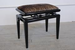 Art Deco Black Lacquer Adjustable Height Piano Bench Circa 1935   264427