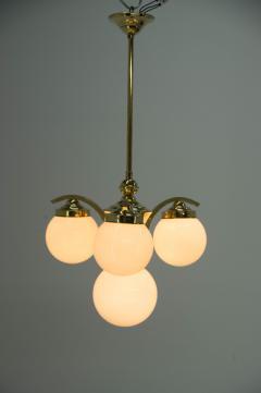 Art Deco Brass 4 flamming Chandelier 1930s - 2088087