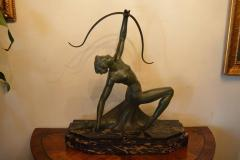 Art Deco Bronze Archer Statue - 368683