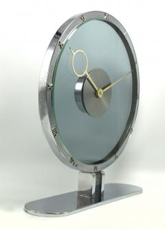 Art Deco Bronze and Nickle Plated Mystery Clock by Kienzle circa 1935 Germany - 945502