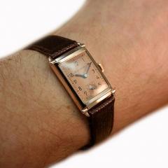 Art Deco Bulova WW2 14k Rose Gold 21 Jewels Gents Wrist Watch Newly Serviced - 954080