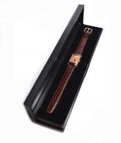 Art Deco Bulova WW2 14k Rose Gold 21 Jewels Gents Wrist Watch Newly Serviced - 954082