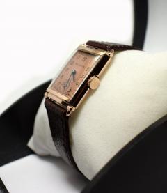 Art Deco Bulova WW2 14k Rose Gold 21 Jewels Gents Wrist Watch Newly Serviced - 954083