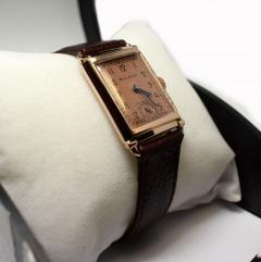 Art Deco Bulova WW2 14k Rose Gold 21 Jewels Gents Wrist Watch Newly Serviced - 954085