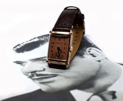 Art Deco Bulova WW2 14k Rose Gold 21 Jewels Gents Wrist Watch Newly Serviced - 954086