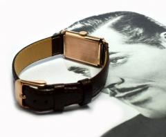Art Deco Bulova WW2 14k Rose Gold 21 Jewels Gents Wrist Watch Newly Serviced - 954087