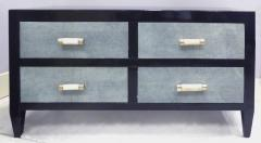 Art Deco Chests of Drawers with Shagreen Clad Drawers Bone Silver Handles - 1121843