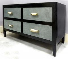 Art Deco Chests of Drawers with Shagreen Clad Drawers Bone Silver Handles - 1121844
