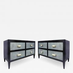 Art Deco Chests of Drawers with Shagreen Clad Drawers Bone Silver Handles - 1122636