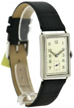 Art Deco Chrome Gents Wristwatch Old Stock Never Worn Newly Serviced 1930 - 1162720
