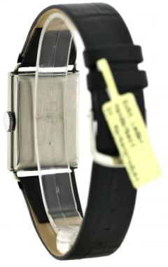 Art Deco Chrome Gents Wristwatch Old Stock Never Worn Newly Serviced 1930 - 1162721