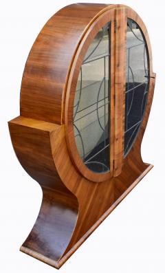 Art Deco Circular Display Vitrine Cabinet in Walnut 1930s - 1105930