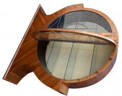 Art Deco Circular Display Vitrine Cabinet in Walnut 1930s - 1105932