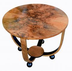 Art Deco Circular Walnut Occasional Table - 987556
