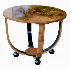 Art Deco Circular Walnut Occasional Table - 987558