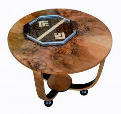 Art Deco Circular Walnut Occasional Table - 987561
