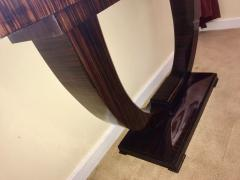 Art Deco Console U Shaped Base in Macassar wood in the style of Ruhlmann - 1387202