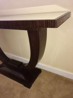 Art Deco Console U Shaped Base in Macassar wood in the style of Ruhlmann - 1387203