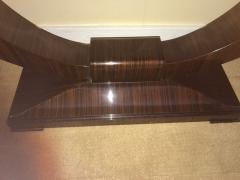 Art Deco Console U Shaped Base in Macassar wood in the style of Ruhlmann - 1387204
